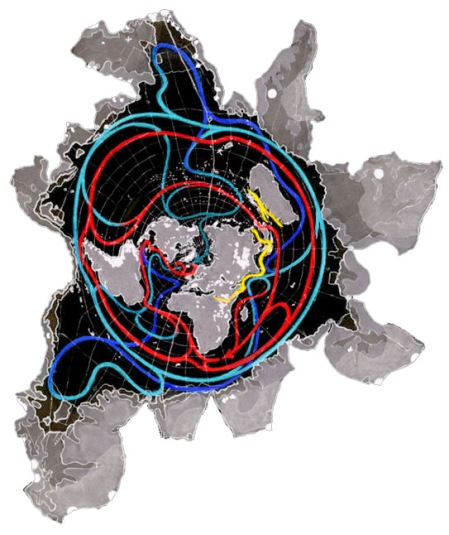 A Constant-Scale Natural Boundary Map of Earth edged by Antarctic Valleys