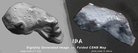 Ida Computer Image vs Folded CSNB map.