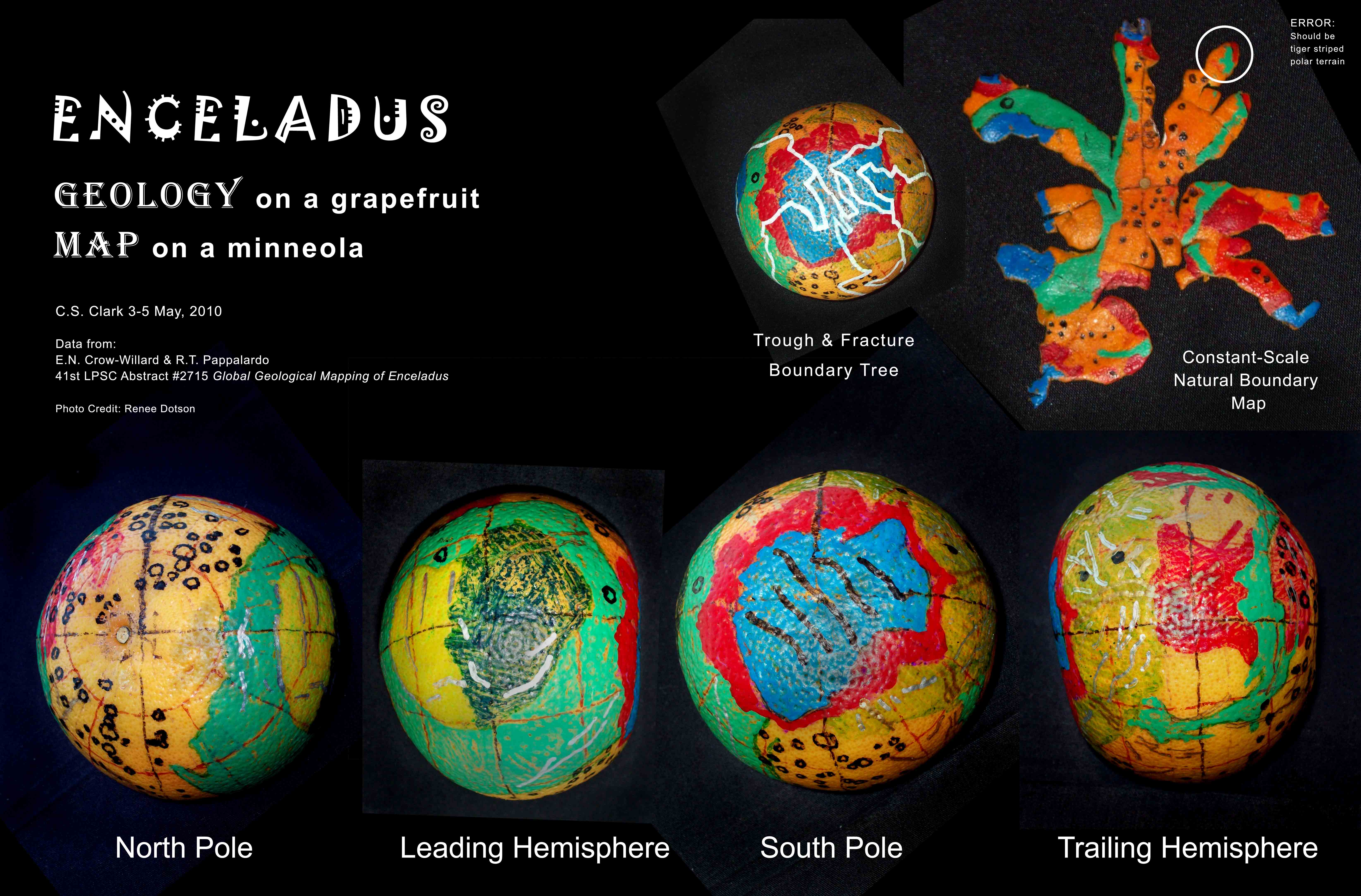 Enceladus First Globe Ever World Maps With Constant